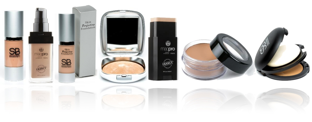 Fonds de Teints SB Make-Up et Maqpro