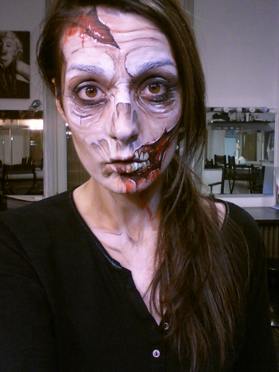 maquillage zombie talc