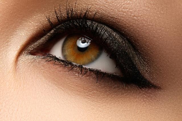 Eye makeup. Beautiful eyes retro style make-up. Holiday makeup d